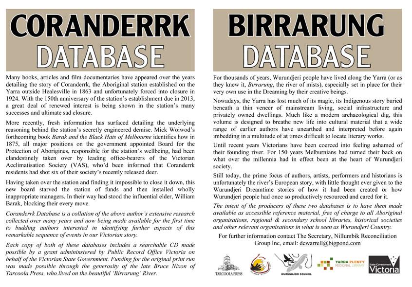 Birrarung Database