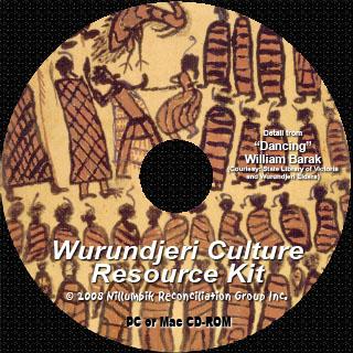 Wurundjeri disc print